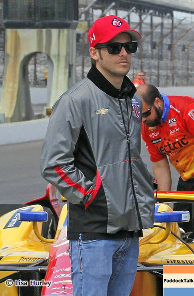 May 11: Marco Andretti during practice for the 97th Indianapolis 500 at the Indianapolis Motor Speedway