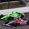 May 15: James Hinchcliffe and Marco Andretti during practice for the 97th Indianapolis 500 at the Indianapolis Motor Speedway
