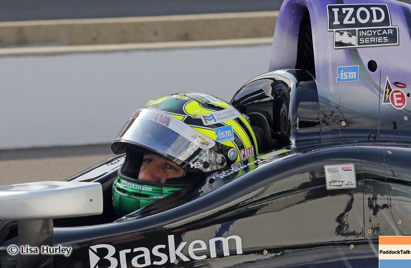 May 11: Tony Kanaan during practice for the 97th Indianapolis 500 at the Indianapolis Motor Speedway