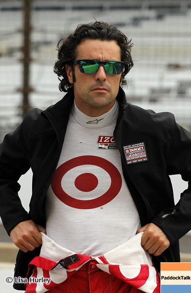 May 11: Dario Franchitti during practice for the 97th Indianapolis 500 at the Indianapolis Motor Speedway