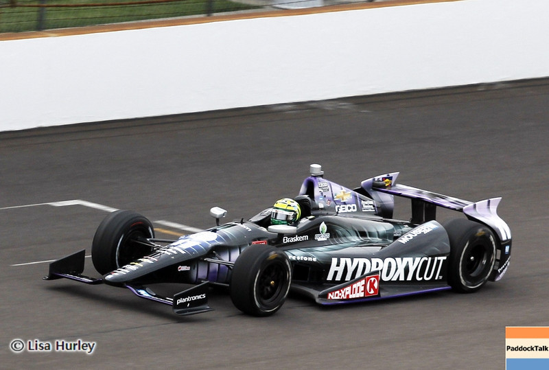 May 15: Tony Kanaan during practice for the 97th Indianapolis 500 at the Indianapolis Motor Speedway