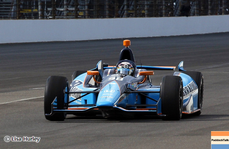 May 11: Alex Tagliani during practice for the 97th Indianapolis 500 at the Indianapolis Motor Speedway