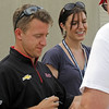 May 15: AJ Allmendinger and Katherine Legg during practice for the 97th Indianapolis 500 at the Indianapolis Motor Speedway