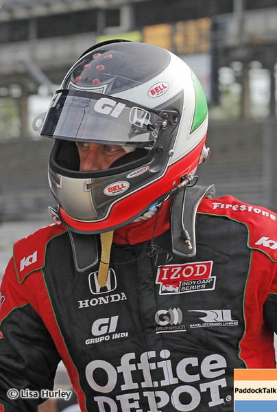 May 15: Michel Jordain, Jr. during practice for the 97th Indianapolis 500 at the Indianapolis Motor Speedway