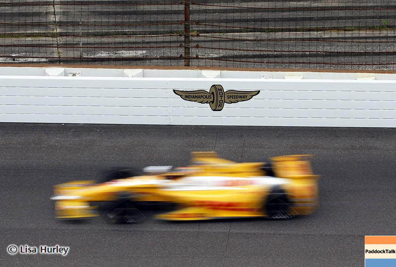 May 15: Ryan Hunter-Reay during practice for the 97th Indianapolis 500 at the Indianapolis Motor Speedway