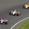 May 26: Marco Andretti takes the lead during the 97th running of the Indianapolis 500 Mile Race.