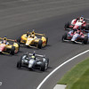 May 26: Tony Kanaan takes the lead for the last time during the 97th running of the Indianapolis 500 Mile Race.