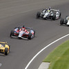 May 26: Ryan Hunter-Reay takes the lead during the 97th running of the Indianapolis 500 Mile Race.