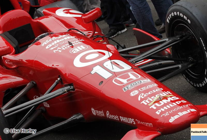 May 26: Dario Franchitti's car before the 97th running of the Indianapolis 500 Mile Race.