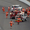 May 26: Dario Franchitti and the Holmatro Safety Team during the 97th running of the Indianapolis 500 Mile Race.