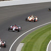 May 26: AJ Allmendinger takes the lead during the 97th running of the Indianapolis 500 Mile Race.