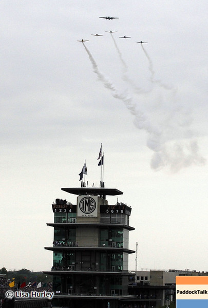 May 26: The pagoda and flyover before the 97th running of the Indianapolis 500 Mile Race.