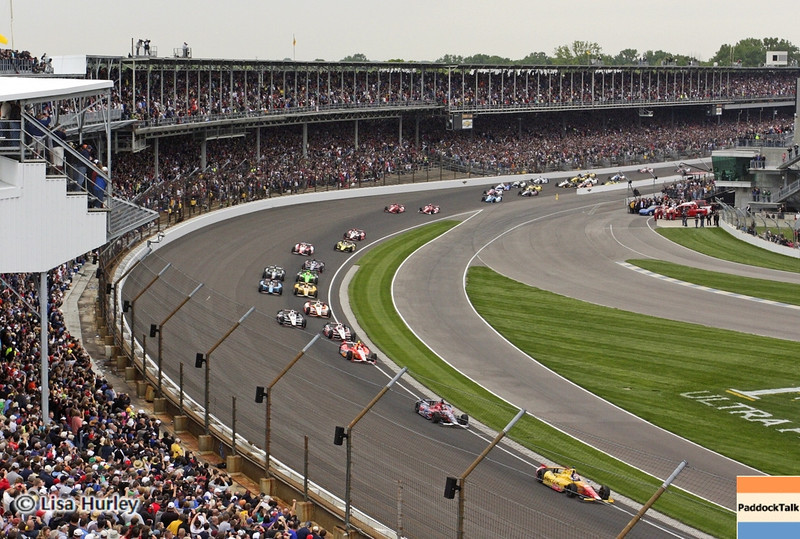 May 26: Green flag of the 97th running of the Indianapolis 500 Mile Race.