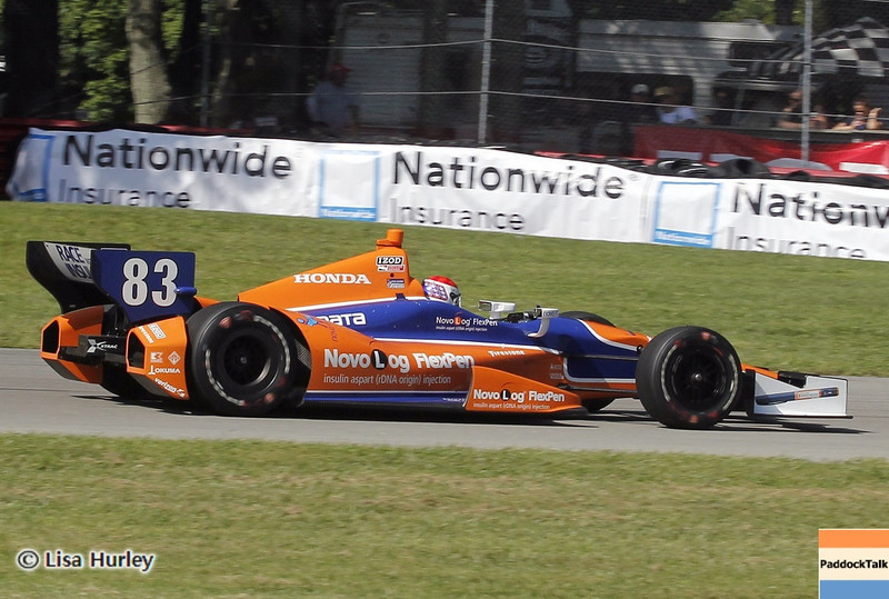 August 4: Charlie Kimball during the race at The Honda Indy 200 at Mid-Ohio.