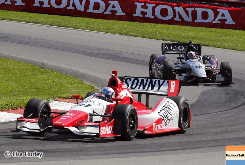 August 3: James Davison and James Jakes during qualifying at The Honda Indy 200 at Mid-Ohio.