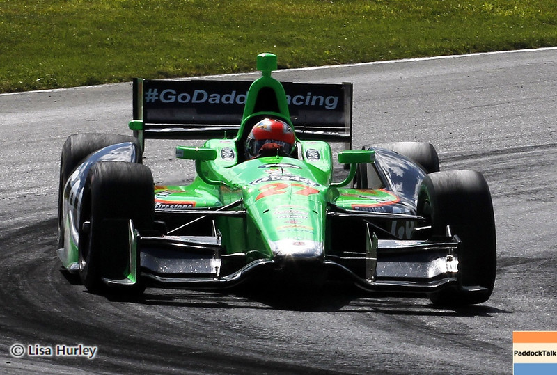 August 4: James Hinchcliffe during the race at The Honda Indy 200 at Mid-Ohio.