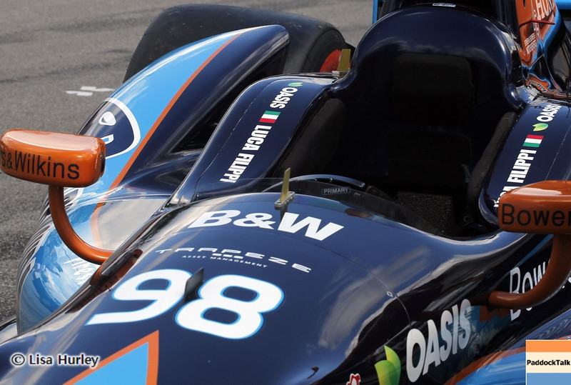 August 4: Luca Filippi's car during the race at The Honda Indy 200 at Mid-Ohio.