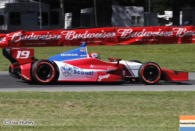 August 4: Justin Wilson during the race at The Honda Indy 200 at Mid-Ohio.