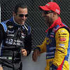 August 3: Helio Castroneves and Tony Kanaan during qualifying at The Honda Indy 200 at Mid-Ohio.