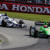 August 3: Sebastian Saavedra and James Hinchcliffe during qualifying at The Honda Indy 200 at Mid-Ohio.