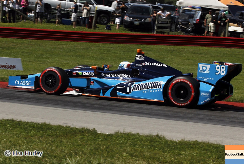 August 4: Luca Filippi during the race at The Honda Indy 200 at Mid-Ohio.