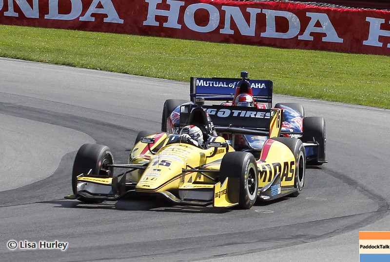 August 3: Track action during qualifying at The Honda Indy 200 at Mid-Ohio.