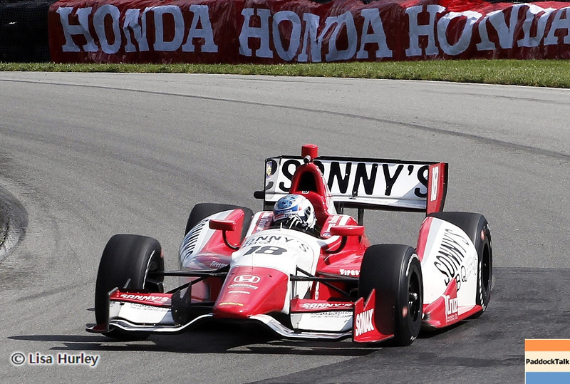 August 3: James Davison during qualifying at The Honda Indy 200 at Mid-Ohio.