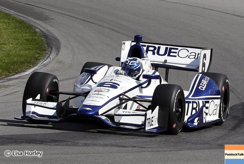 August 3: Sebastian Saavedra during qualifying at The Honda Indy 200 at Mid-Ohio.