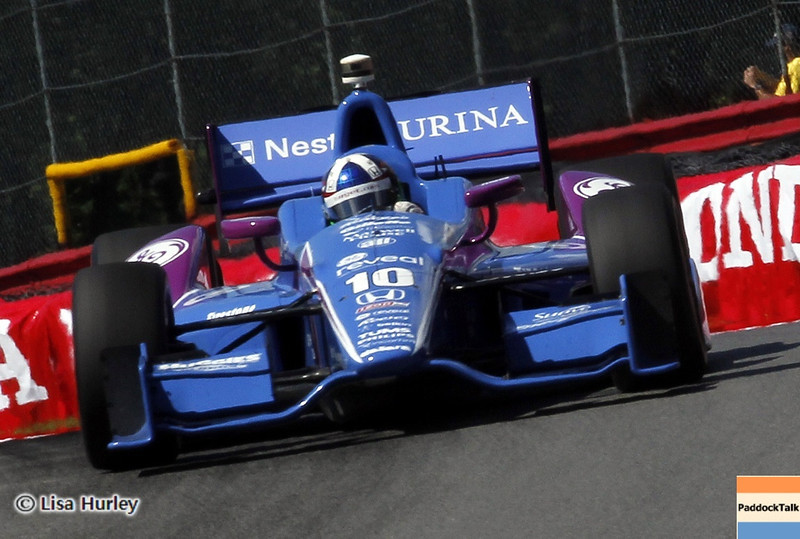 August 4: Dario Franchitti during the race at The Honda Indy 200 at Mid-Ohio.