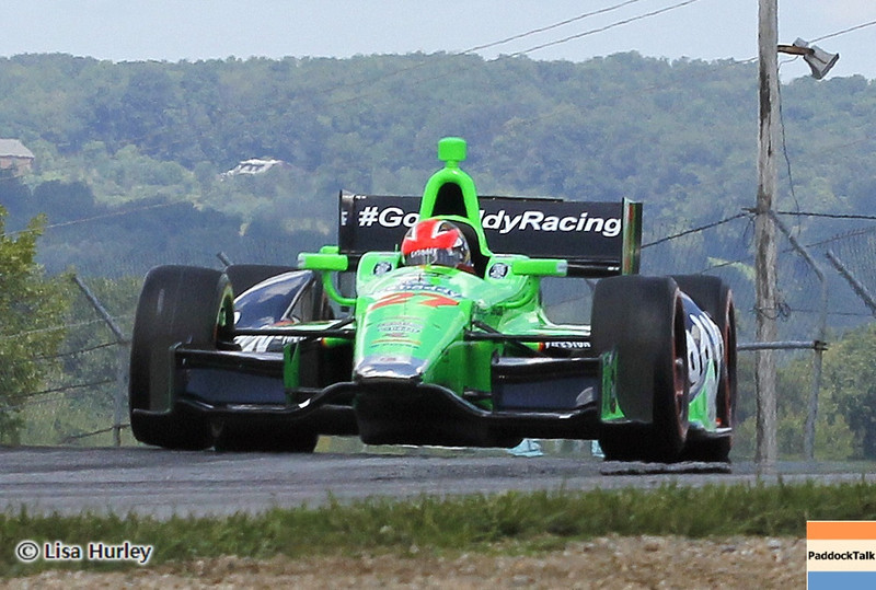 August 3: James Hinchcliffe during qualifying at The Honda Indy 200 at Mid-Ohio.