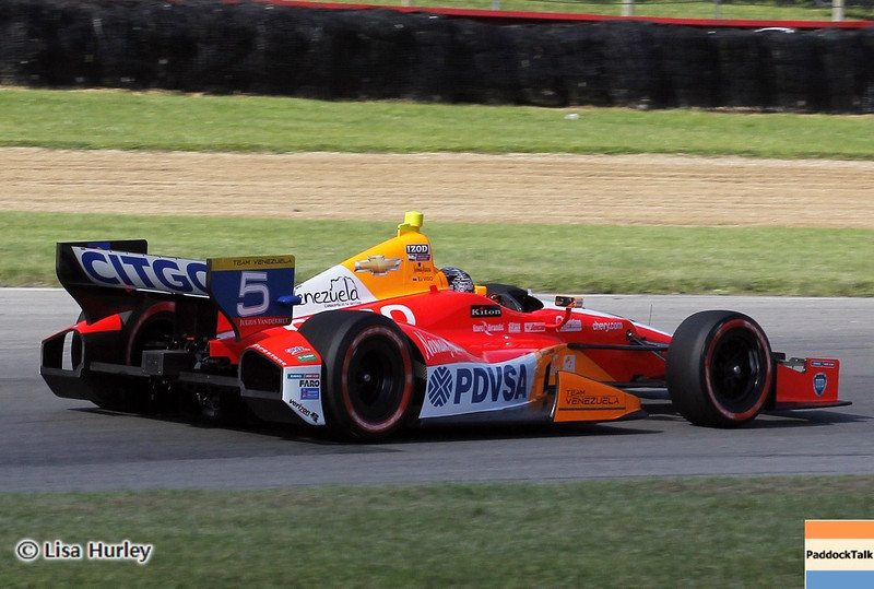 August 4: E.J. Viso during the race at The Honda Indy 200 at Mid-Ohio.