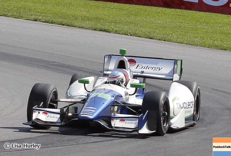 August 3: Simona de Silvestro during qualifying at The Honda Indy 200 at Mid-Ohio.
