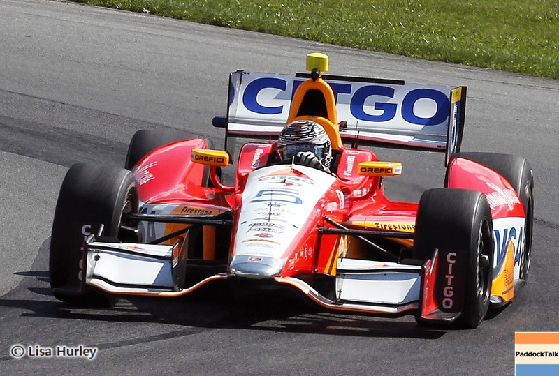 August 3: E.J. Viso during qualifying at The Honda Indy 200 at Mid-Ohio.