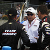 August 4: Roger Penske and team during the race at The Honda Indy 200 at Mid-Ohio.