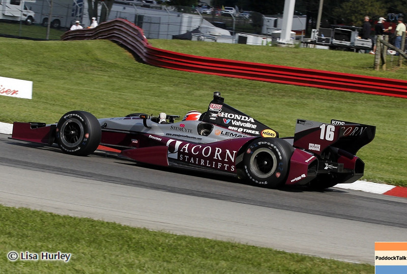 August 3: James Jakes during qualifying at The Honda Indy 200 at Mid-Ohio.