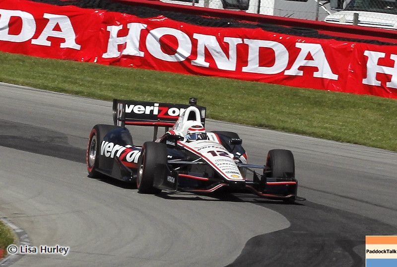 August 4: Will Power during the race at The Honda Indy 200 at Mid-Ohio.