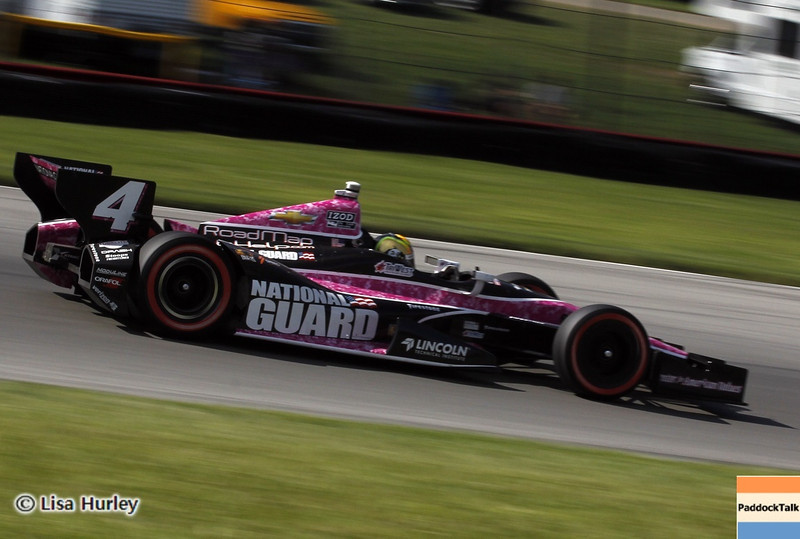 August 4: Oriol Servia during the race at The Honda Indy 200 at Mid-Ohio.