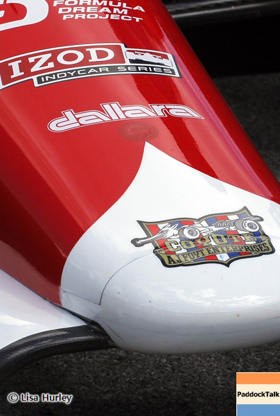 August 4: Takuma Sato's car during the race at The Honda Indy 200 at Mid-Ohio.
