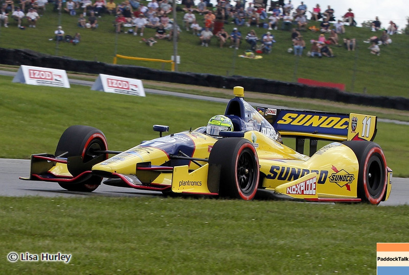 August 3: Tony Kanaan during qualifying at The Honda Indy 200 at Mid-Ohio.