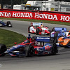 August 4: The start of the race at The Honda Indy 200 at Mid-Ohio.