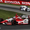 August 4: James Davison and Sebastian Saavedra during the race at The Honda Indy 200 at Mid-Ohio.