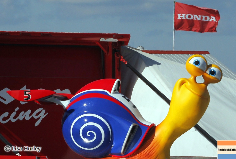 August 4: Turbo on the Firestone hauler during the race at The Honda Indy 200 at Mid-Ohio.