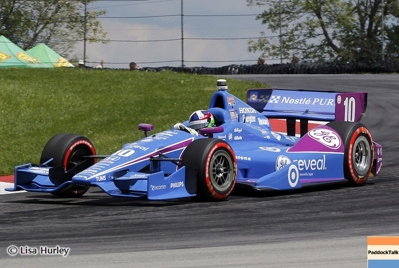 August 3: Dario Franchitti during qualifying at The Honda Indy 200 at Mid-Ohio.