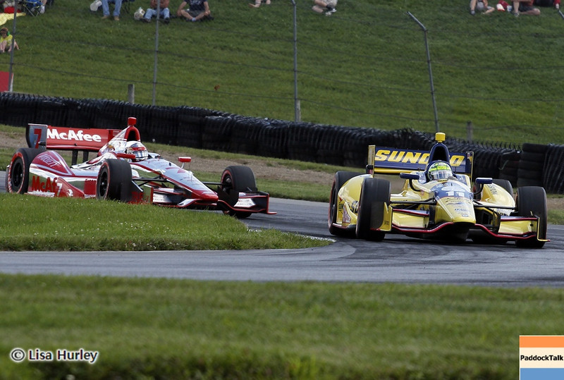 August 3: Sebastien Bourdais and Graham Rahal during qualifying at The Honda Indy 200 at Mid-Ohio.