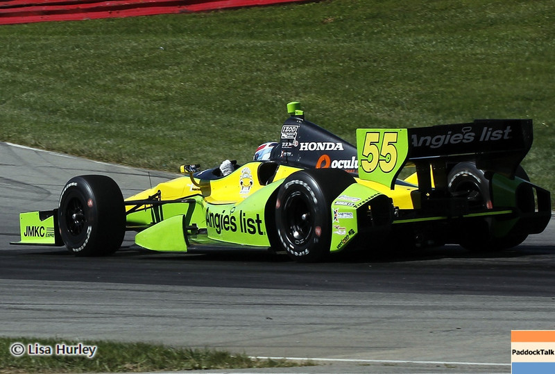 August 4: Tristan Vautier during the race at The Honda Indy 200 at Mid-Ohio.
