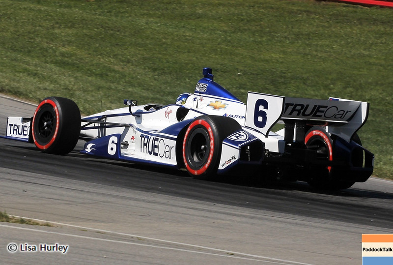 August 4: Sebastian Saavedra during the race at The Honda Indy 200 at Mid-Ohio.