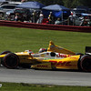 August 4: Ryan Hunter-Reay during the race at The Honda Indy 200 at Mid-Ohio.