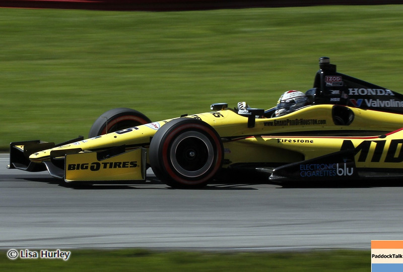 August 4: Graham Rahal during the race at The Honda Indy 200 at Mid-Ohio.