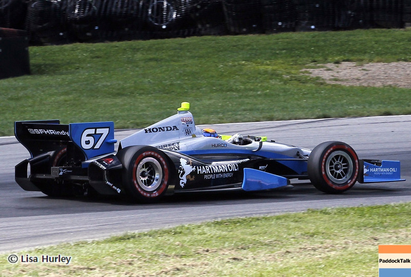 August 4: Josef Newgarden during the race at The Honda Indy 200 at Mid-Ohio.