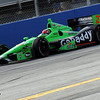 June 15: James Hinchcliffe during the Izod IndyCar race at the Milwaukee Mile.